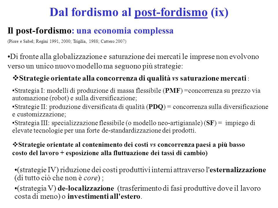 Dal fordismo al post-fordismo (ix)