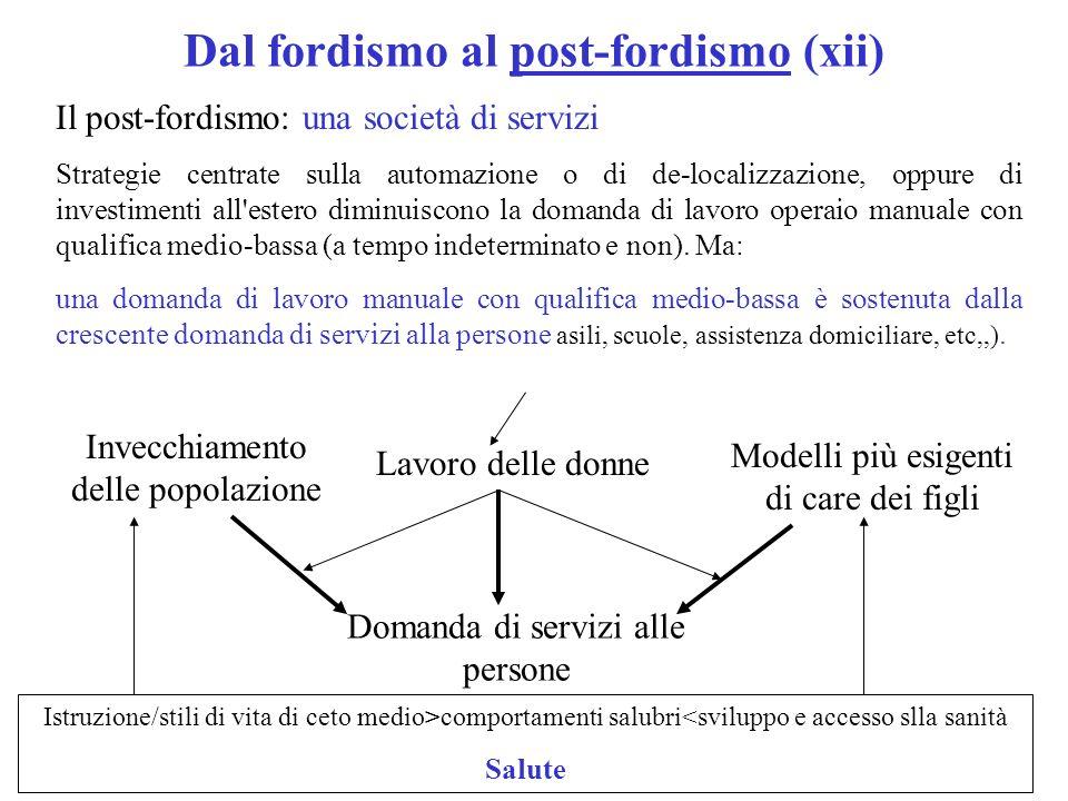 Dal fordismo al post-fordismo (xii)