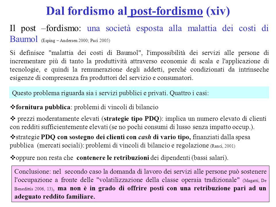 Dal fordismo al post-fordismo (xiv)