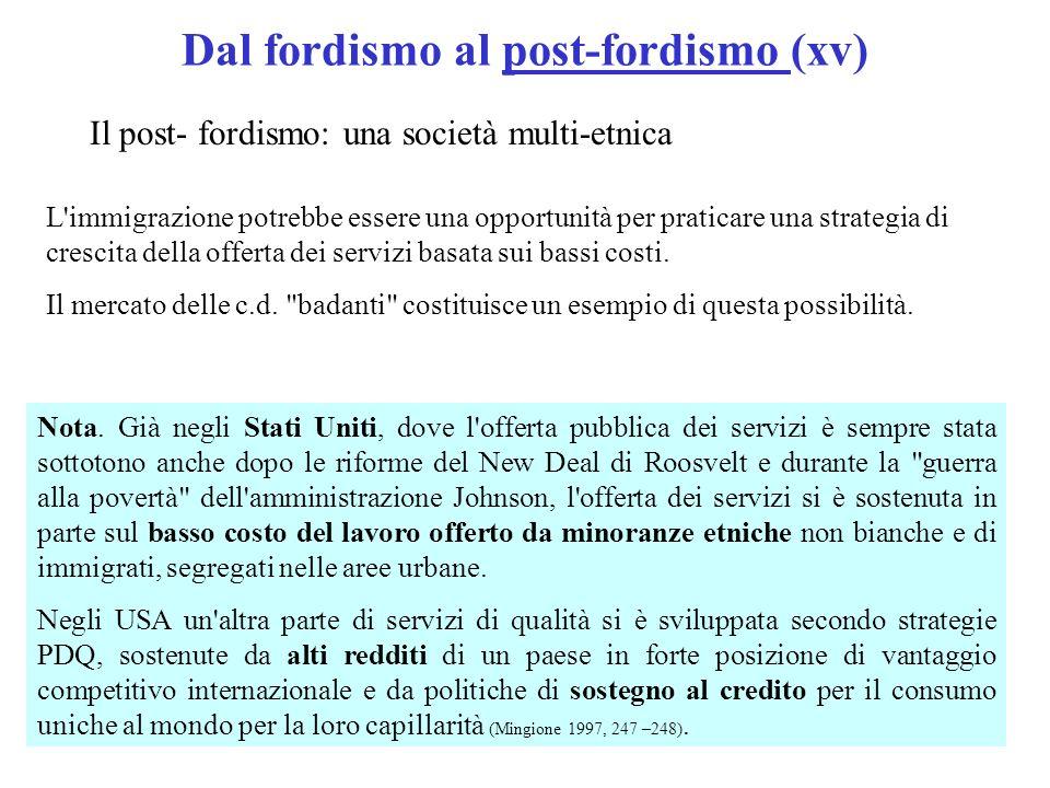 Dal fordismo al post-fordismo (xv)