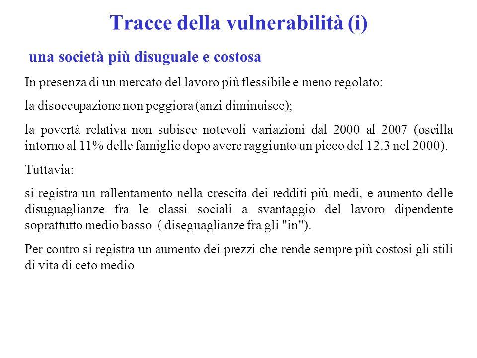 Tracce della vulnerabilità (i)