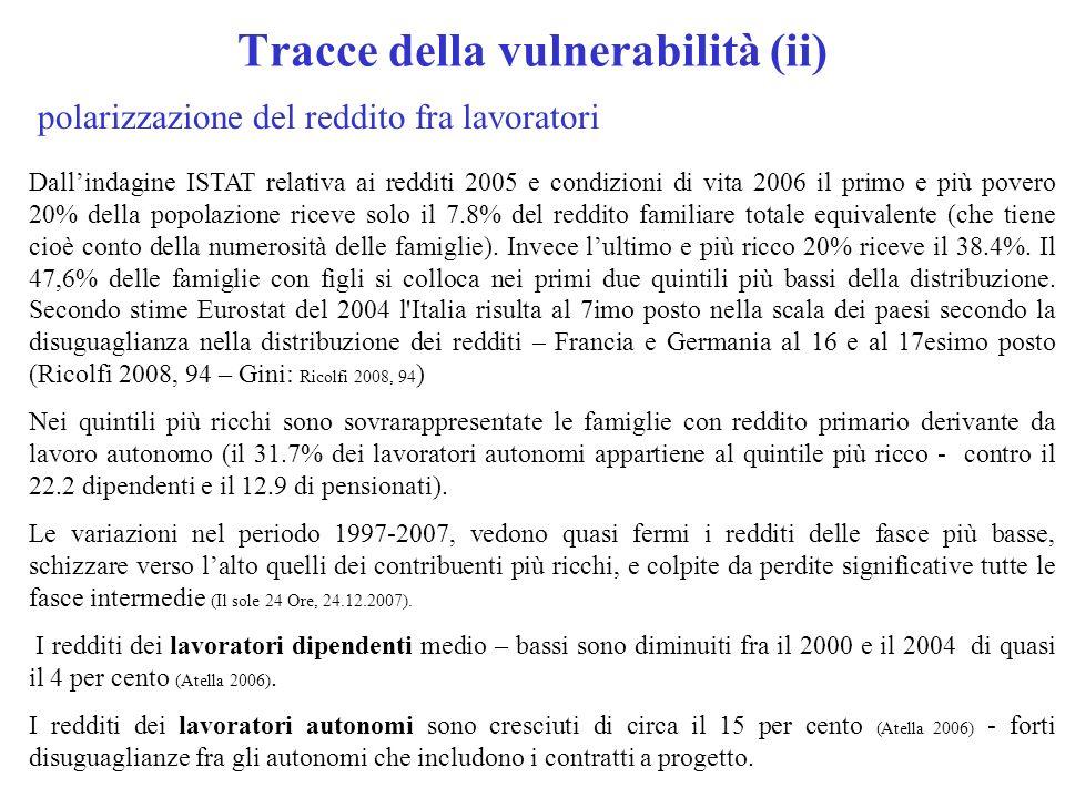 Tracce della vulnerabilità (ii)