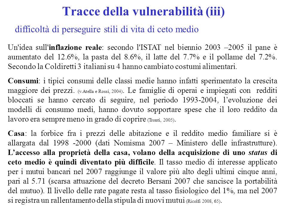 Tracce della vulnerabilità (iii)