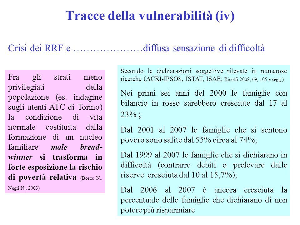 Tracce della vulnerabilità (iv)