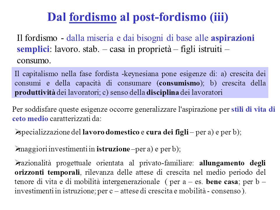 Dal fordismo al post-fordismo (iii)