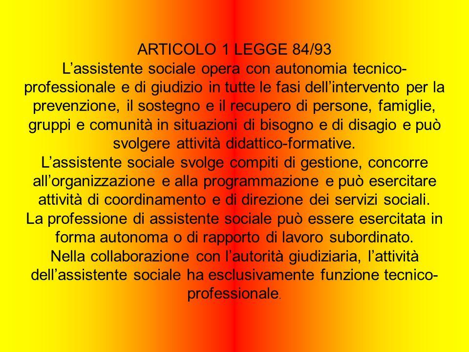 ARTICOLO 1 LEGGE 84/93