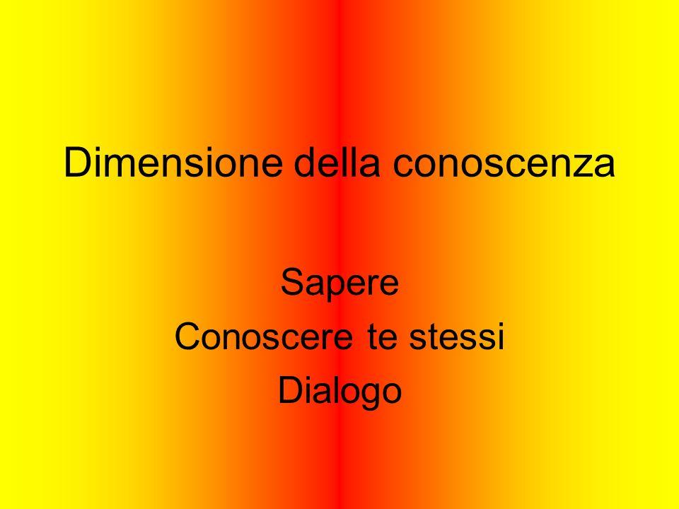 Dimensione della conoscenza