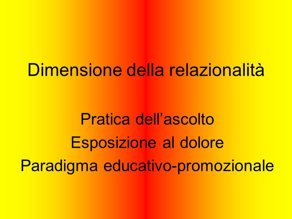 Dimensione della relazionalità