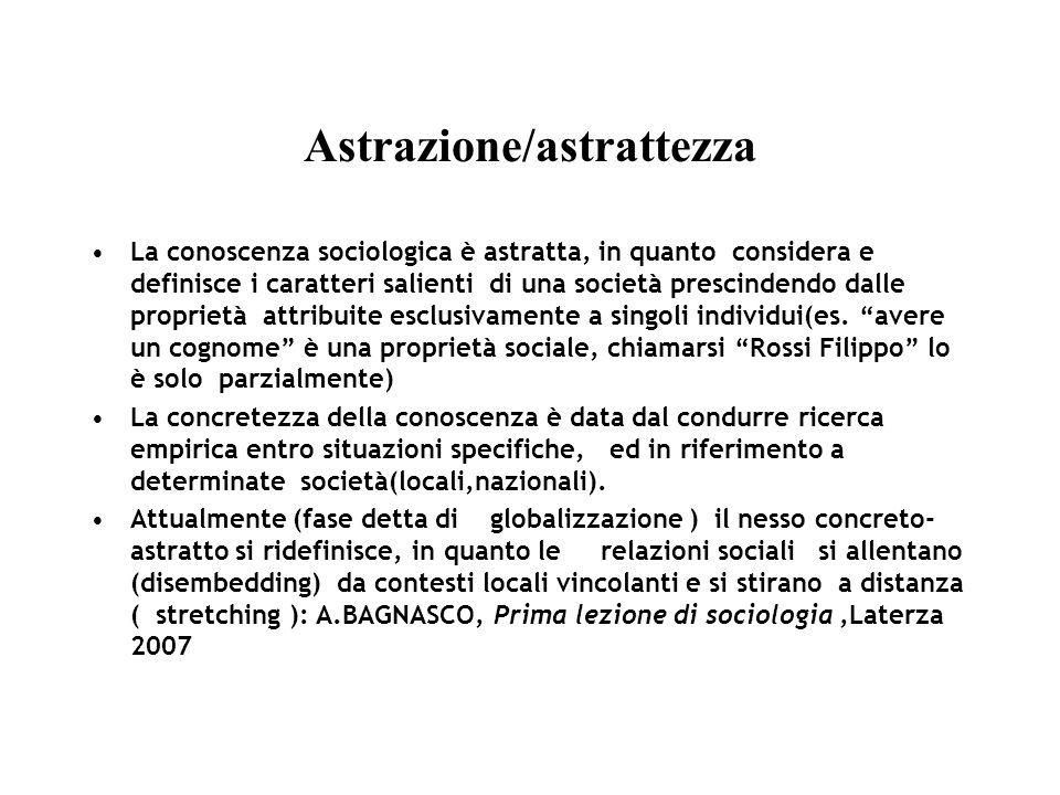 Astrazione/astrattezza