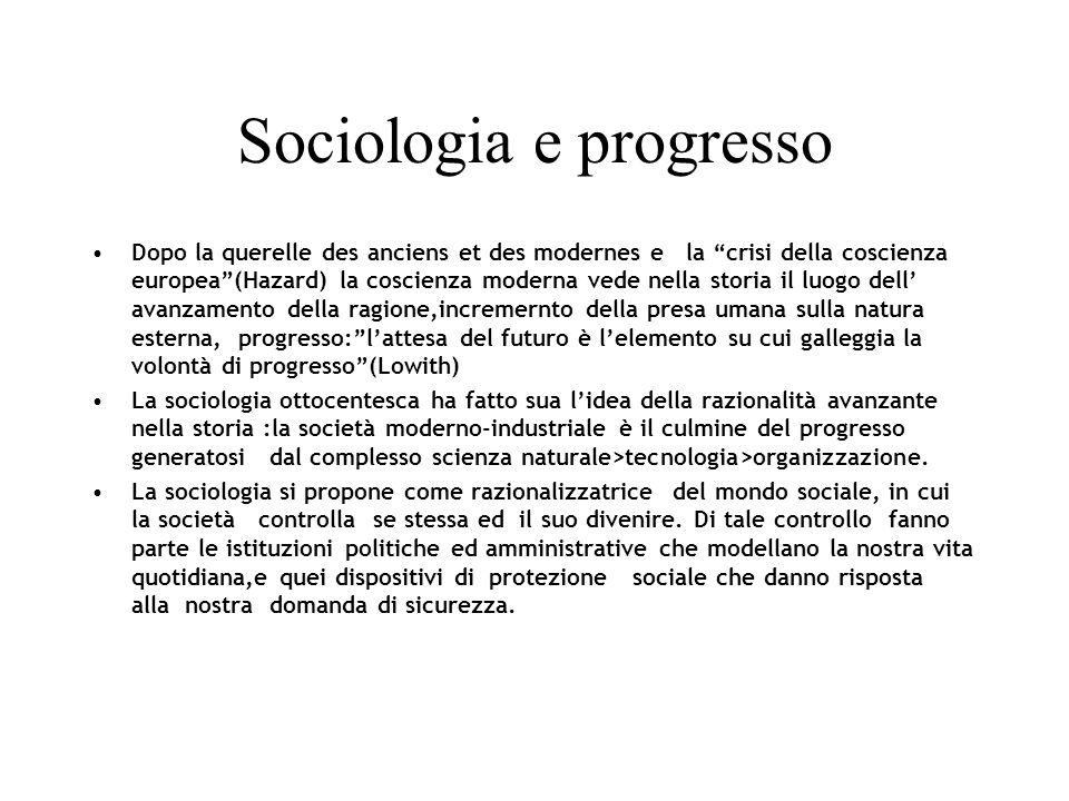 Sociologia e progresso