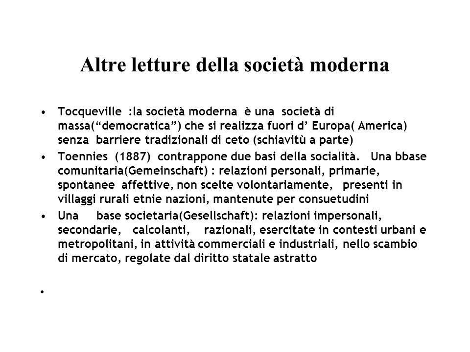 Altre letture della società moderna