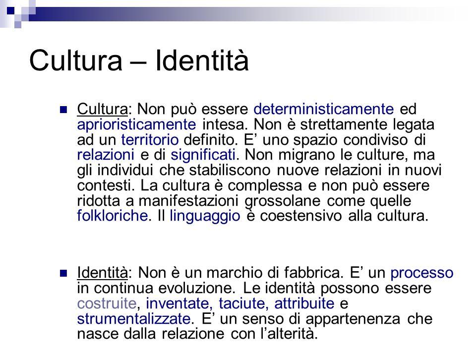Cultura – Identità