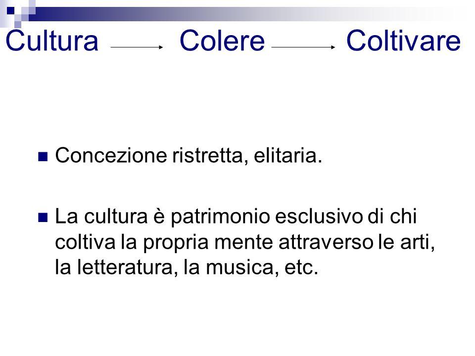 Cultura Colere Coltivare