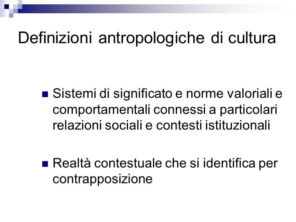 Definizioni antropologiche di cultura