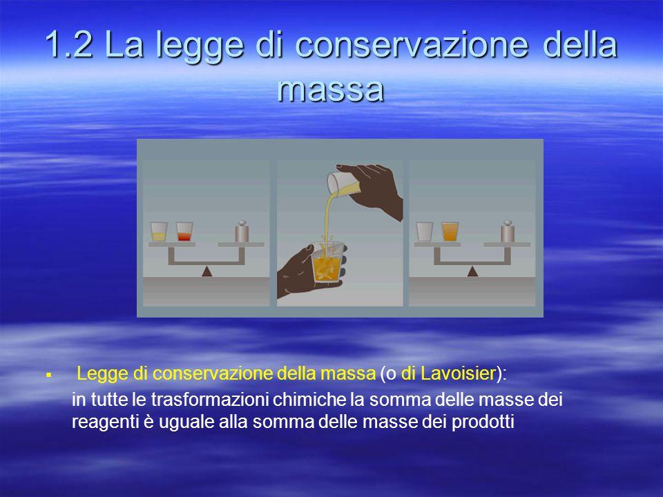 1.2 La legge di conservazione della massa