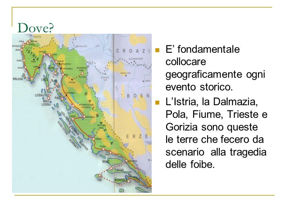 Dove E' fondamentale collocare geograficamente ogni evento storico.