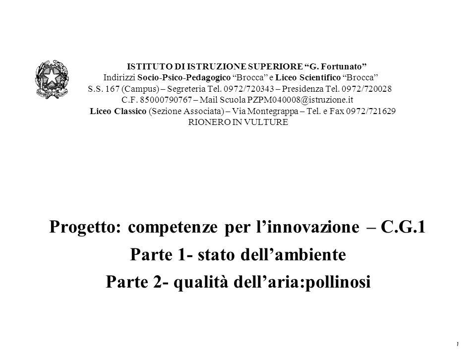 Progetto: competenze per l'innovazione – C.G.1