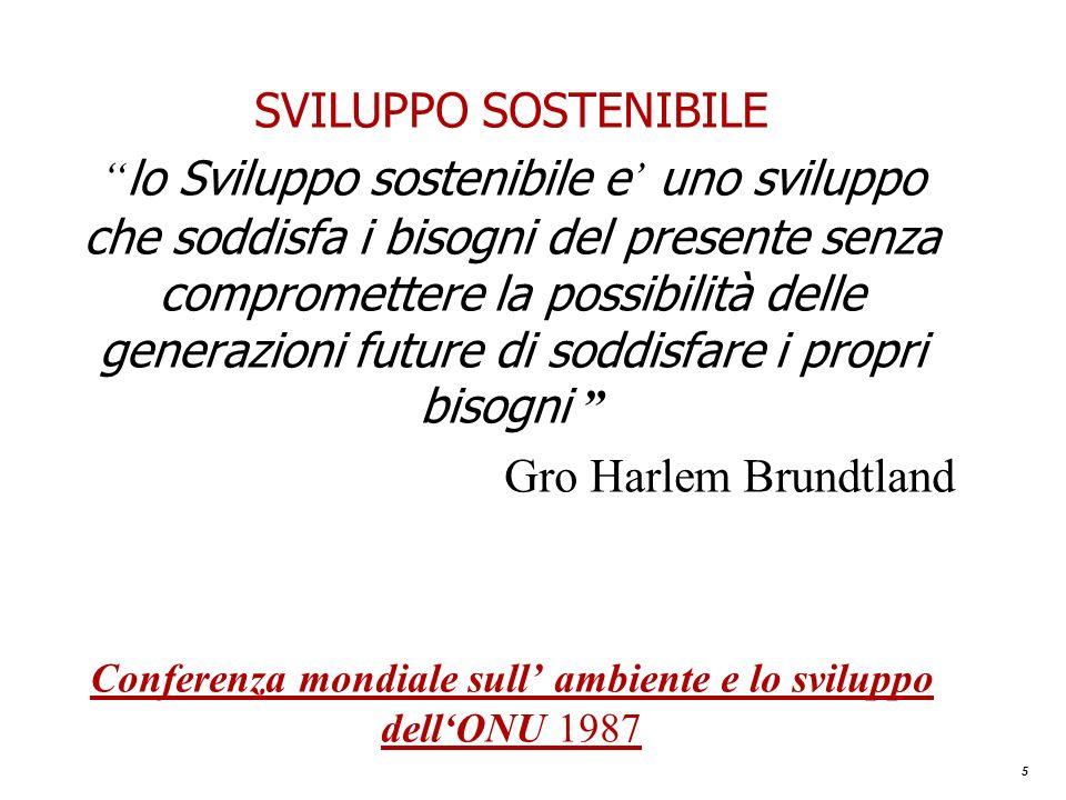Conferenza mondiale sull' ambiente e lo sviluppo dell'ONU 1987
