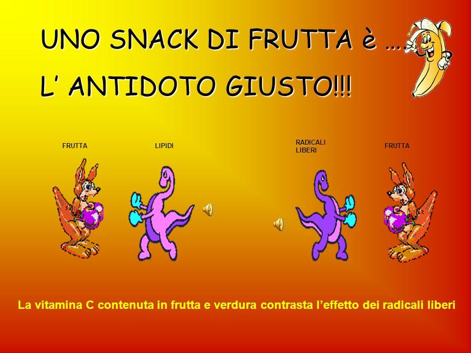 UNO SNACK DI FRUTTA è …….. L' ANTIDOTO GIUSTO!!!