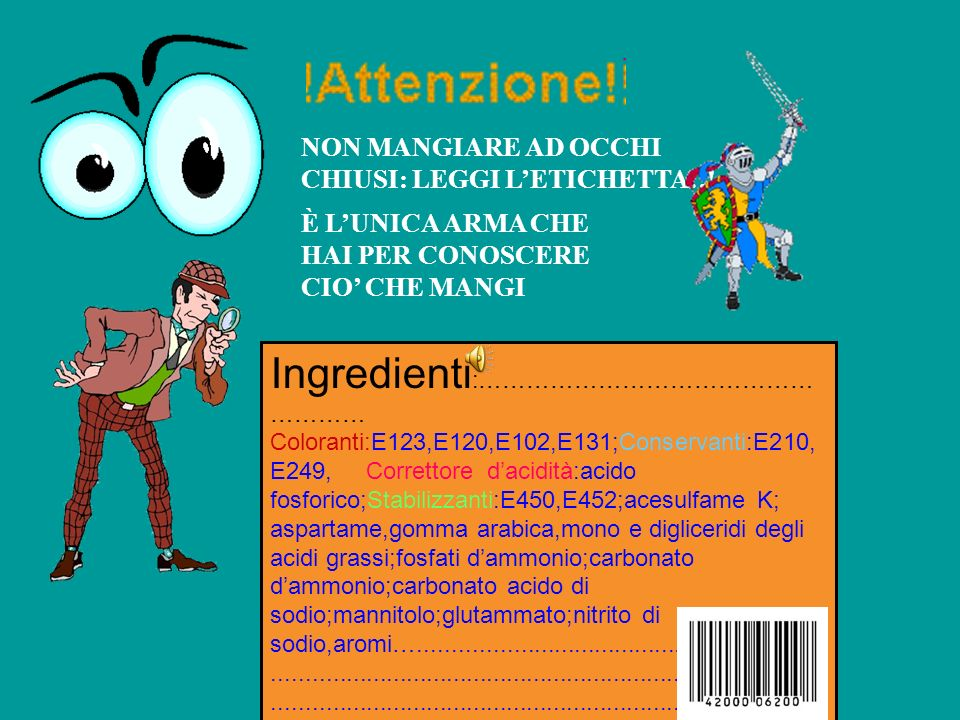 Ingredienti:………………………………………………
