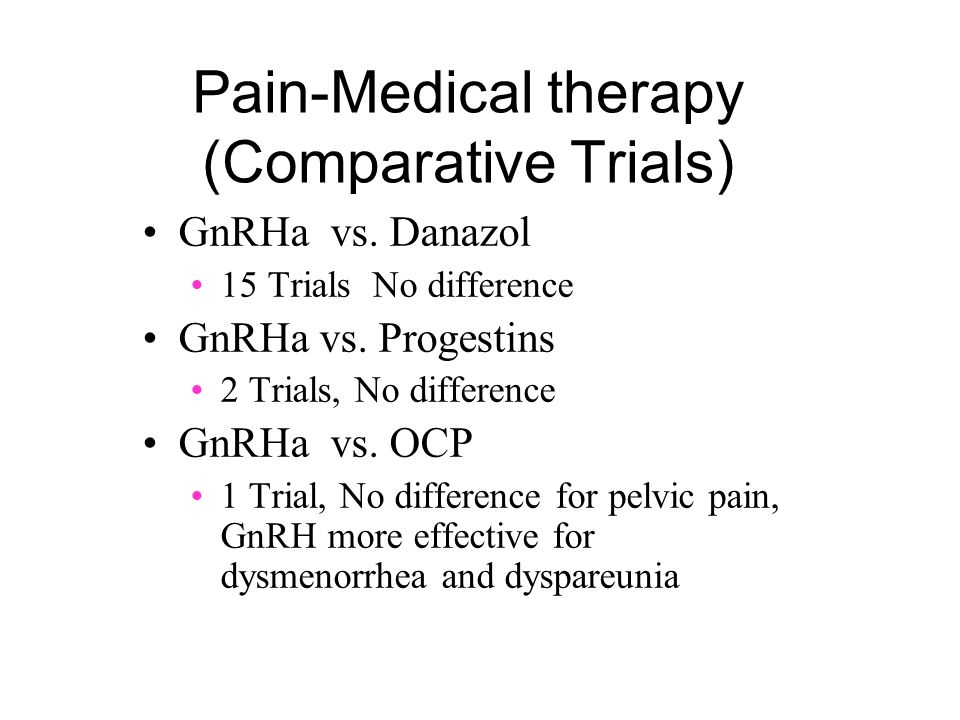 Pain-Medical therapy (Comparative Trials)