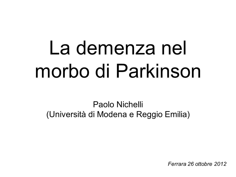 La demenza nel morbo di Parkinson