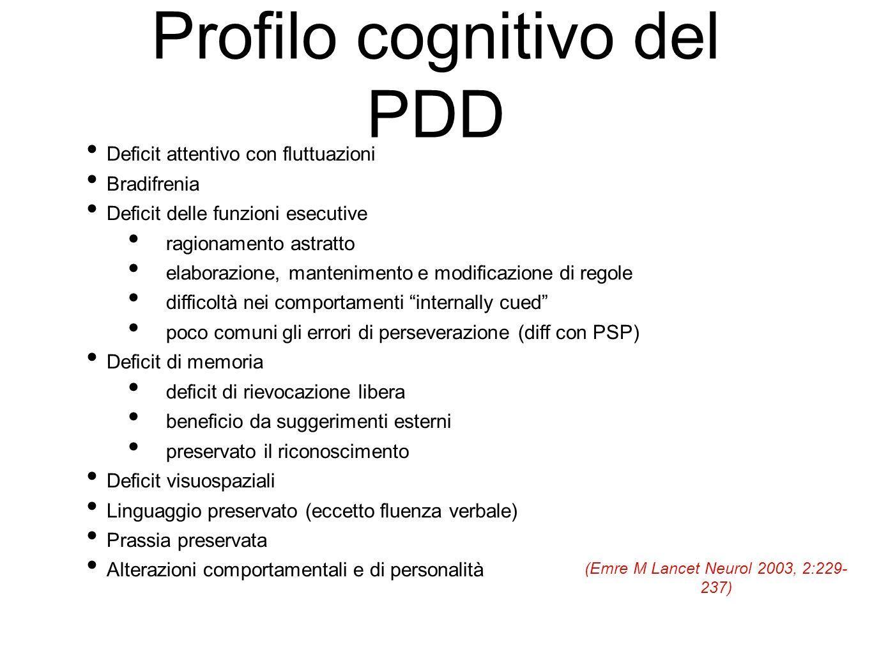 Profilo cognitivo del PDD