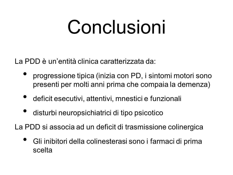 Conclusioni La PDD è un'entità clinica caratterizzata da: