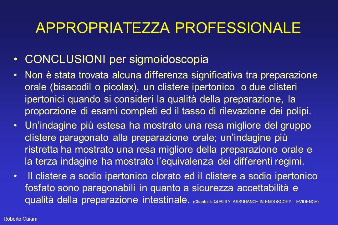 APPROPRIATEZZA PROFESSIONALE