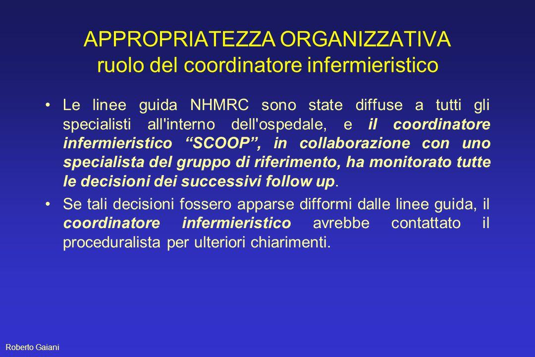 APPROPRIATEZZA ORGANIZZATIVA ruolo del coordinatore infermieristico