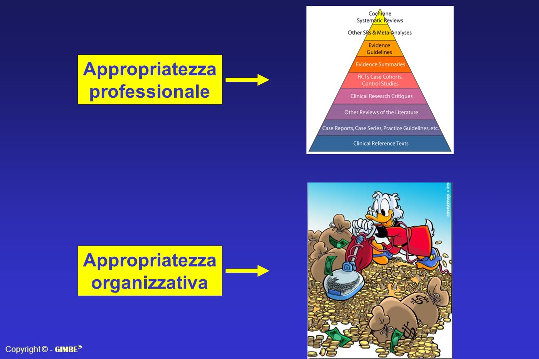 Appropriatezza professionale Appropriatezza organizzativa