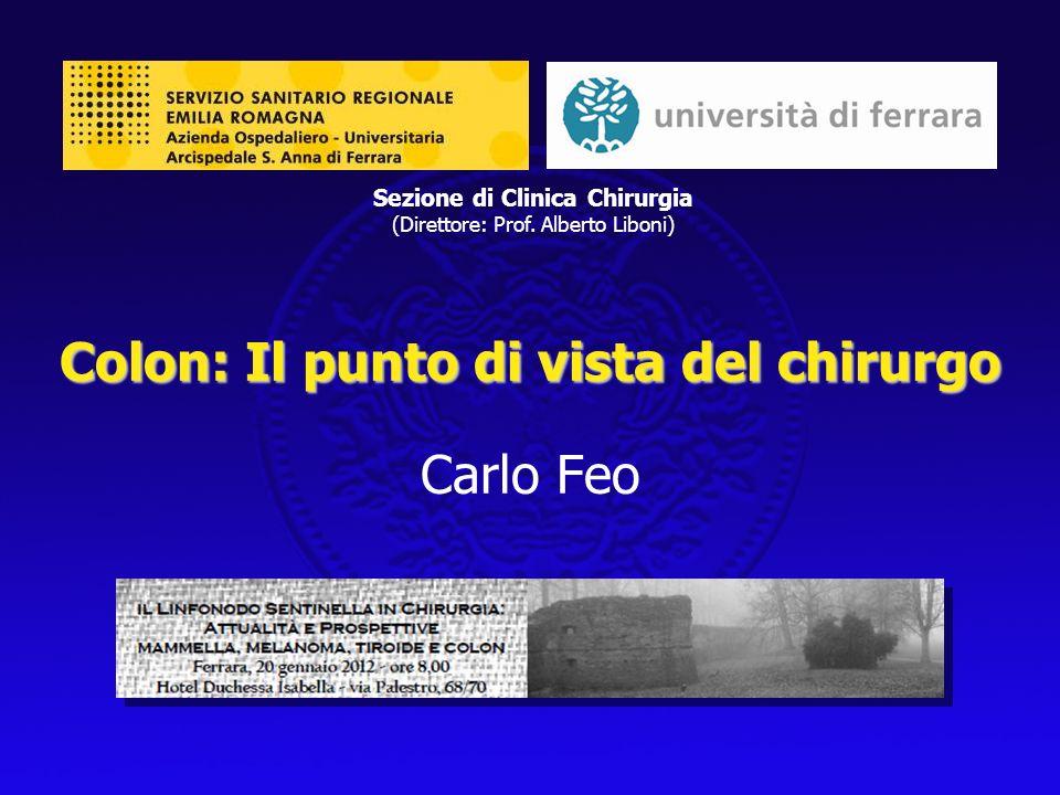 Colon: Il punto di vista del chirurgo Carlo Feo