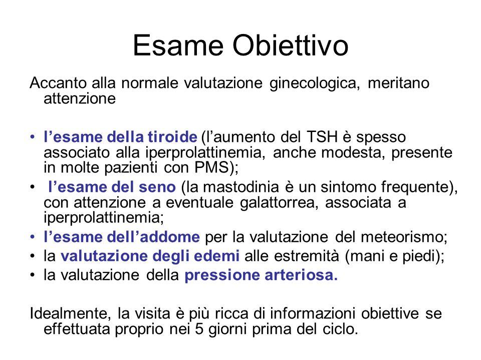 Esame Obiettivo Accanto alla normale valutazione ginecologica, meritano attenzione.