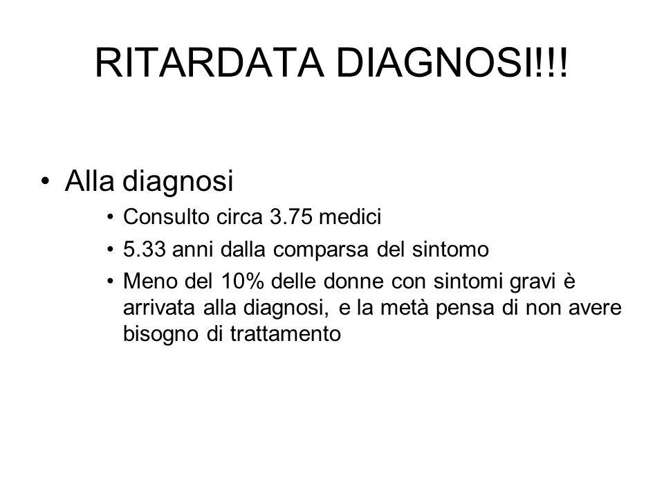 RITARDATA DIAGNOSI!!! Alla diagnosi Consulto circa 3.75 medici