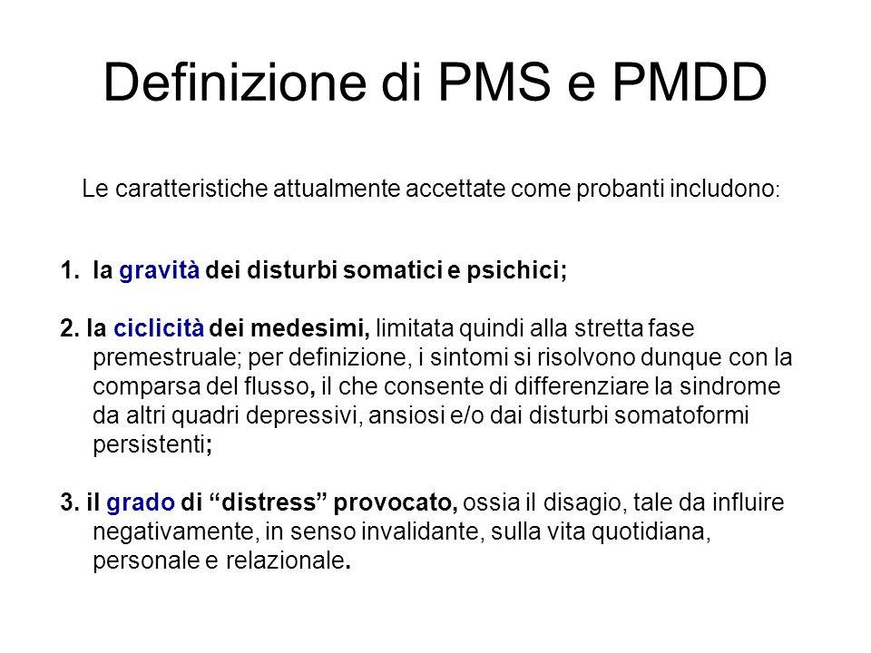 Definizione di PMS e PMDD
