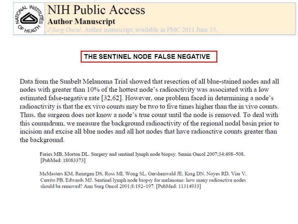 THE SENTINEL NODE FALSE NEGATIVE