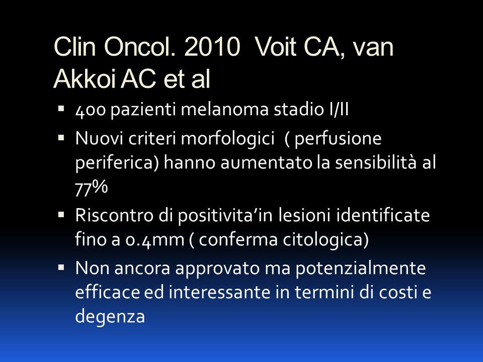 Clin Oncol. 2010 Voit CA, van Akkoi AC et al
