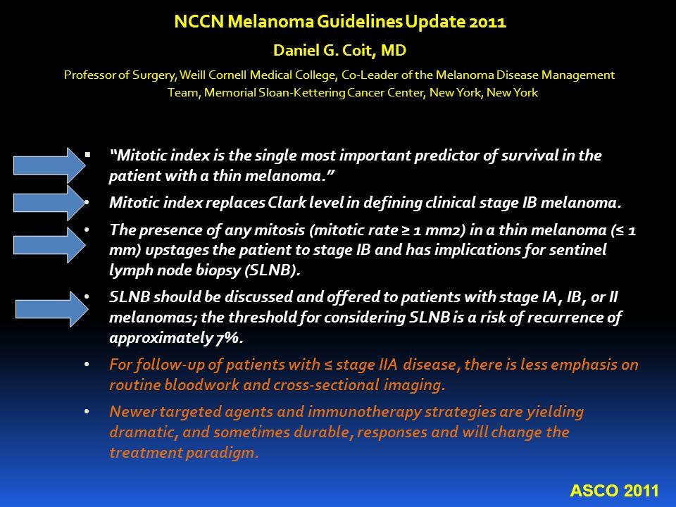 NCCN Melanoma Guidelines Update 2011