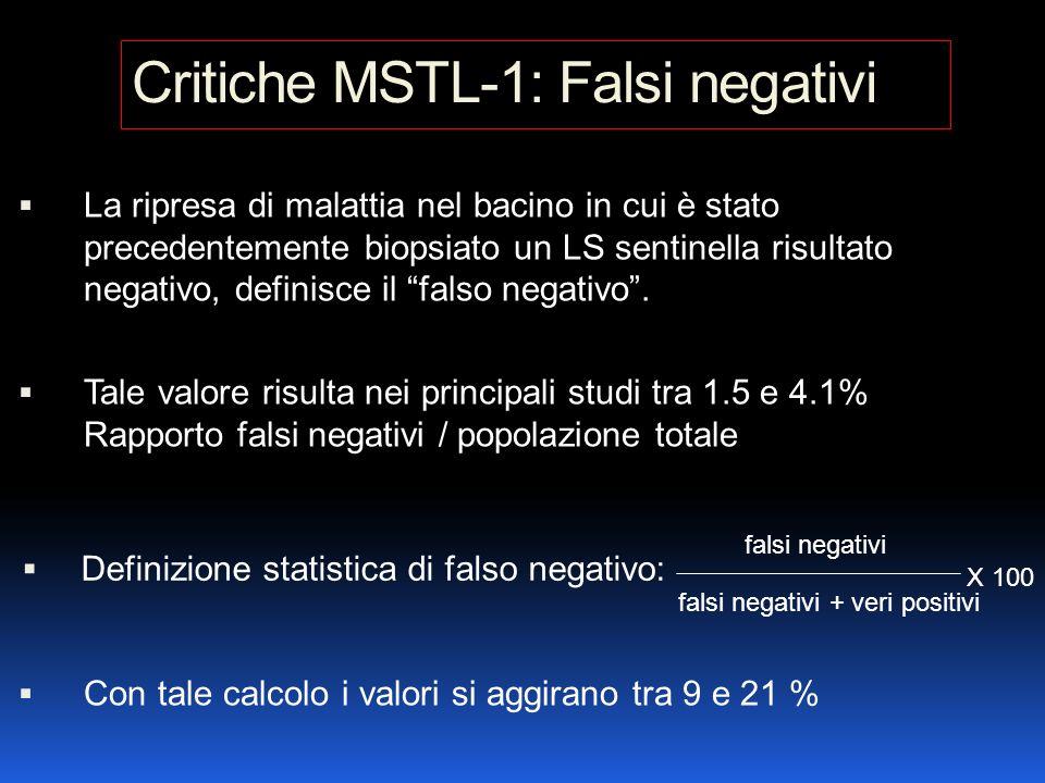 Critiche MSTL-1: Falsi negativi