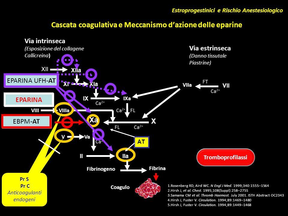 Cascata coagulativa e Meccanismo d'azione delle eparine
