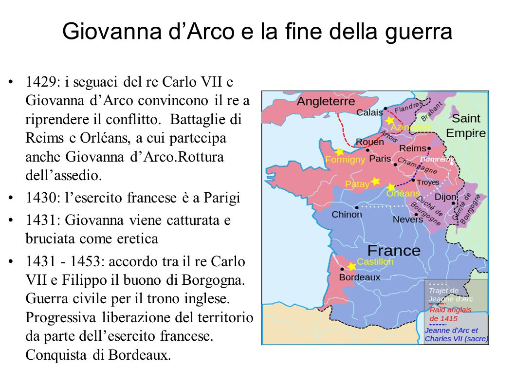 Giovanna d'Arco e la fine della guerra
