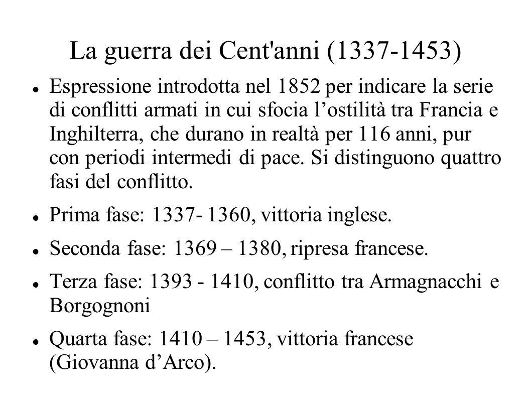 La guerra dei Cent anni (1337-1453)