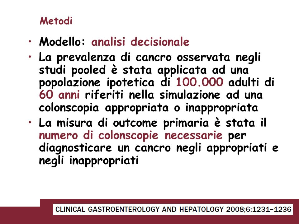 Modello: analisi decisionale