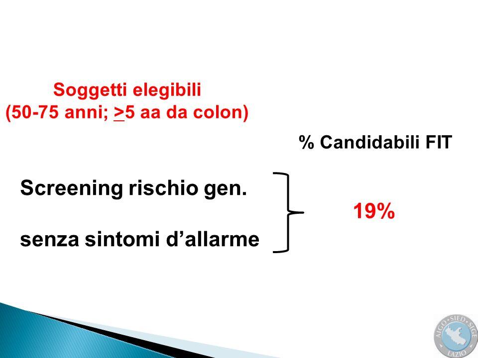 (50-75 anni; >5 aa da colon)