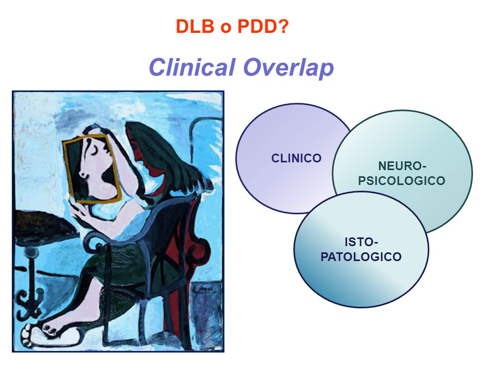 Clinical Overlap DLB o PDD CLINICO NEURO- PSICOLOGICO ISTO-