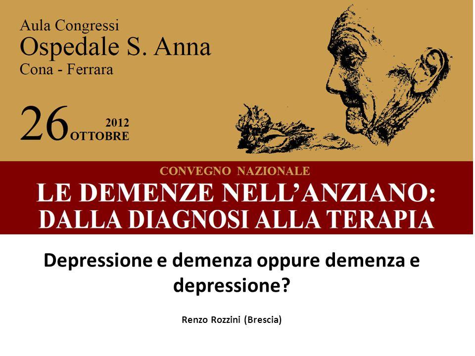 Depressione e demenza oppure demenza e depressione