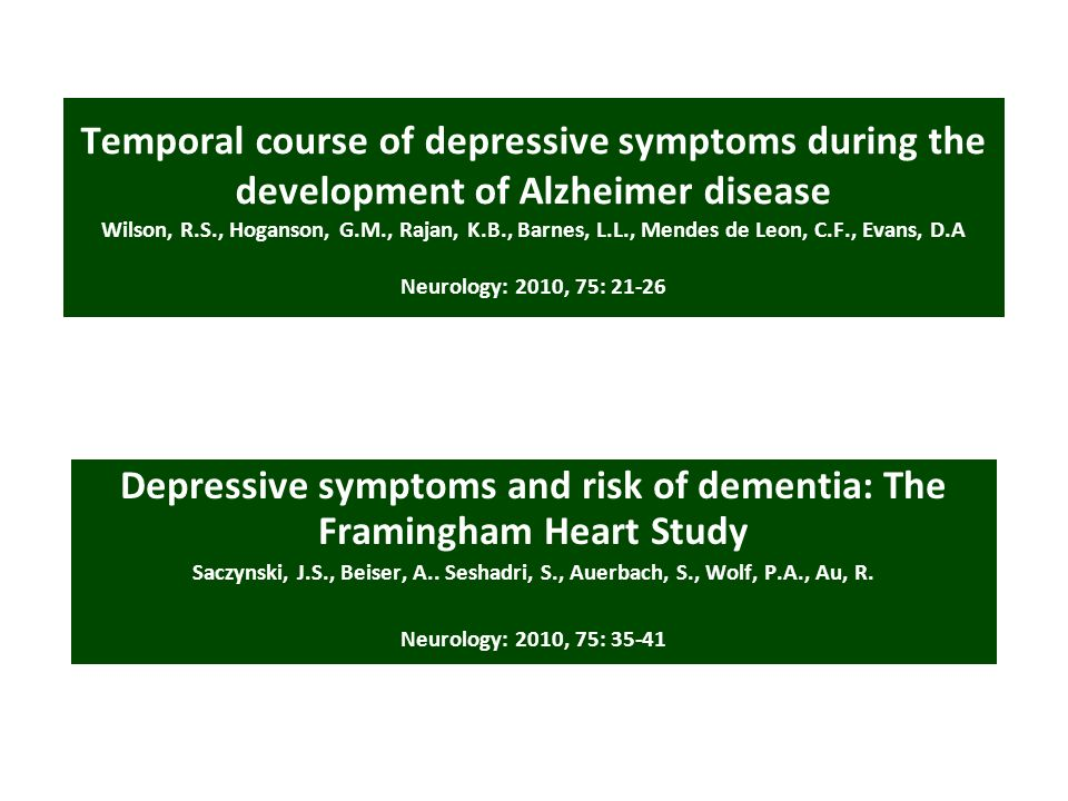 Depressive symptoms and risk of dementia: The Framingham Heart Study