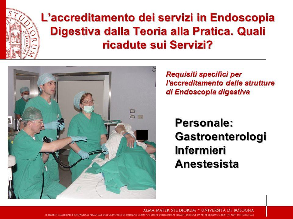 L'accreditamento dei servizi in Endoscopia Digestiva dalla Teoria alla Pratica. Quali ricadute sui Servizi