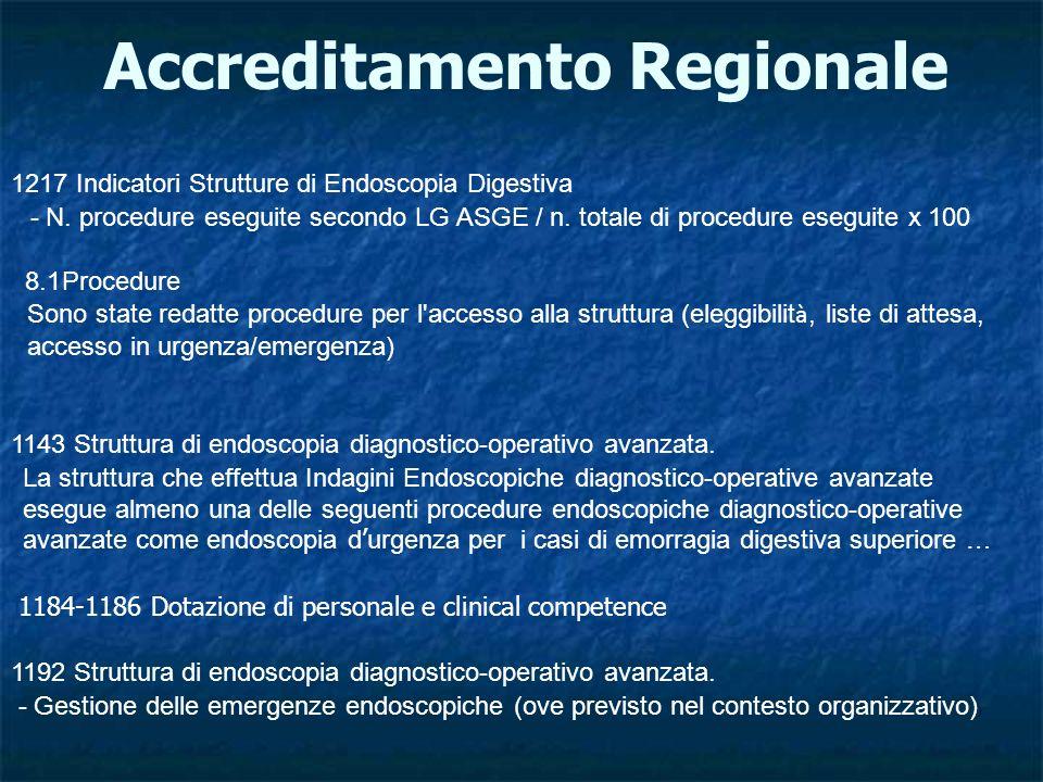 Accreditamento Regionale