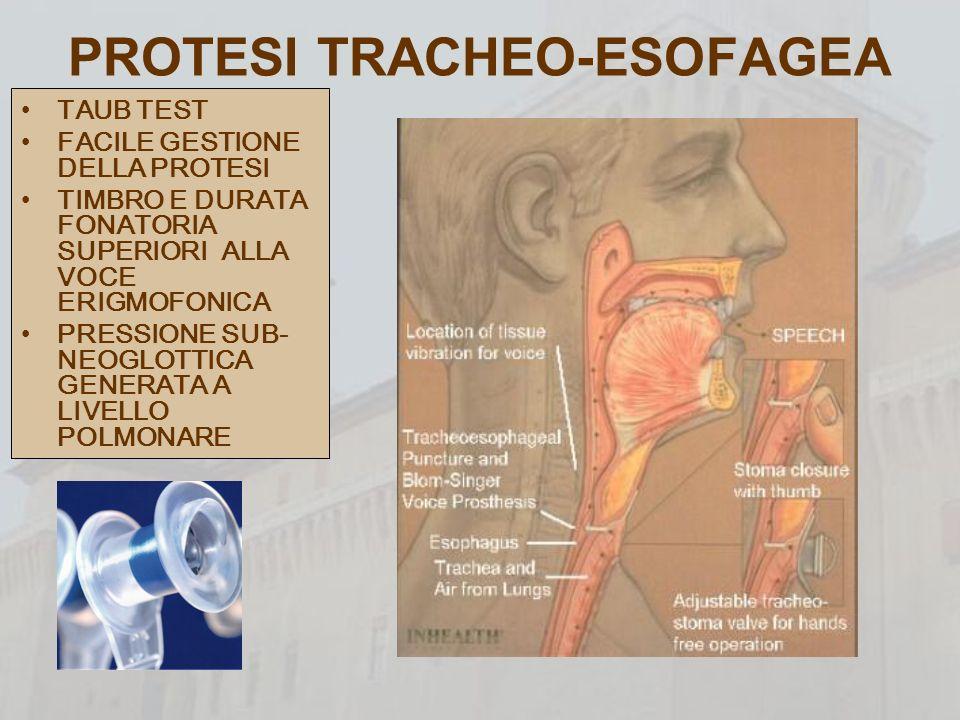 PROTESI TRACHEO-ESOFAGEA
